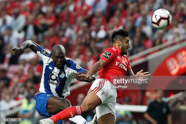 Danilo Pereira of Porto heads for the ball with Eduardo Salvio of Benfica during the Portuguese League football match between SL Benfica and FC Porto...