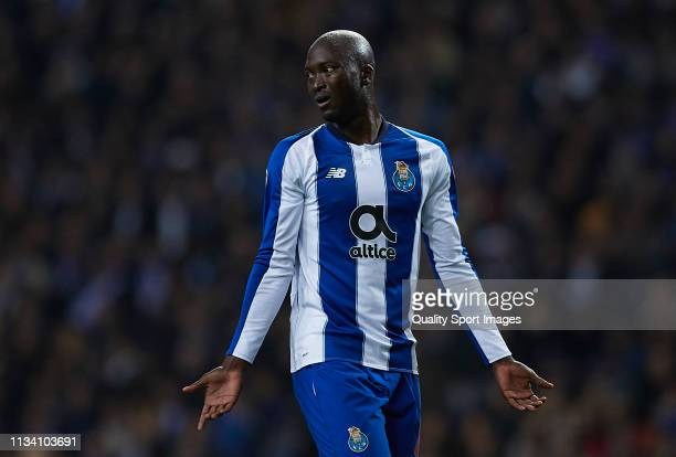 Danilo Pereira of Porto reacts during the UEFA Champions League Round of 16 Second Leg match between FC Porto and AS Roma at Estadio do Dragao on...