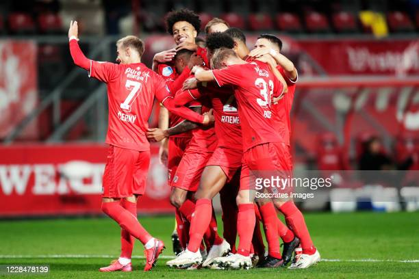 Danilo Perreira of FC Twente celebrates 2-0 with Vaclav Cerny of FC Twente, Tyronne Ebuehi of FC Twente, Jesse Bosch of FC Twente during the Dutch...