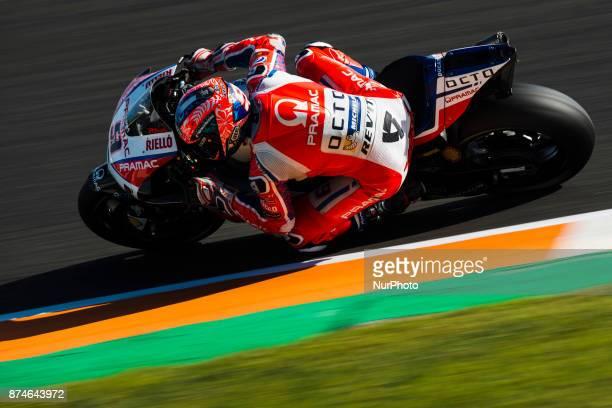 Danilo Petrucci Octo Pramac Racing Ducati during the tests of the new season MotoGP 2018 Circuit of Ricardo TormoValencia Spain Wednesday 15th of...