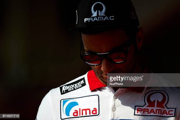 Danilo Petrucci of Italy and Alma Pramac Racing Ducati during the press conference before of the Gran Premi Monster Energy de Catalunya Circuit of...
