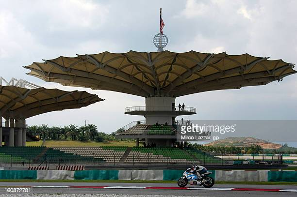 Danilo Petrucci of Italy and Came Iodaracing Project heads down a straight during the MotoGP Tests in Sepang Day Five at Sepang Circuit on February 7...