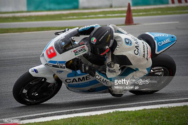 Danilo Petrucci of Italy and Came Iodaracing Project rounds the bend during the MotoGP Tests in Sepang Day Four at Sepang Circuit on February 6 2013...