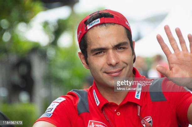 Danilo Petrucci of Italy and Ducati Team greets the fans in paddock during the MotoGP of Malaysia Previews at Sepang Circuit on October 31 2019 in...