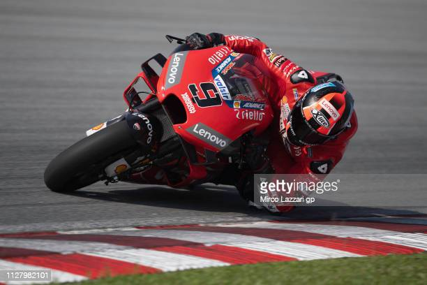 Danilo Petrucci of Italy and Ducati Team rounds the bend during the MotoGP Tests In Sepang at Sepang Circuit on February 07 2019 in Kuala Lumpur...