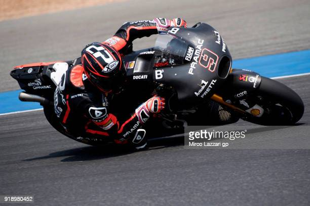 Danilo Petrucci of Italy and Octo Pramac Racing rounds the bend during the MotoGP Tests In Thailand on February 16 2018 in Buri Ram Thailand