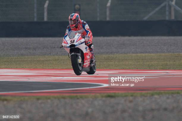 Danilo Petrucci of Italy and Pramac Racing rides out of track during the qualifying practice during the MotoGp of Argentina Qualifying on April 7...