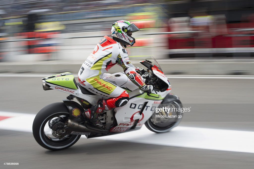 Danilo Petrucci of Italy and Pramac Racing starts from box during the MotoGP Netherlands - Qualifying at TT Assen Circuit on June 26, 2015 in Assen, Netherlands.
