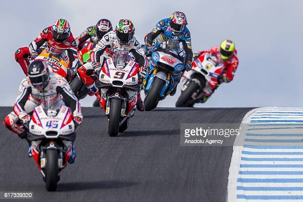 Danilo Petrucci of Octo Pramac Racing amongst the pack during 2016 MotoGP motorcycle race of Australia at the Phillip Island Grand Prix Circuit...