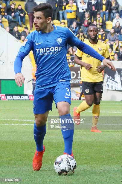 Danilo Soares of VfL Bochum 1848 controls the ball during the second Bundesliga match between Dynamo Dresden and VfL Bochum 1848 at...