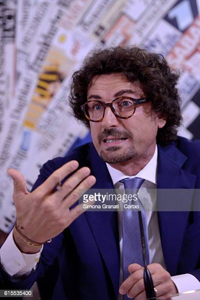 Danilo Toninelli of Movement 5 Stars during the presentation to the foreign press of I say no to save Italy's futurethe subject of the press...