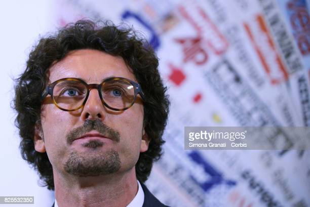 Danilo Toninelli Presents New Version Of The Rousseau Platform To Foreign Media on August 2 2017 in Rome Italy
