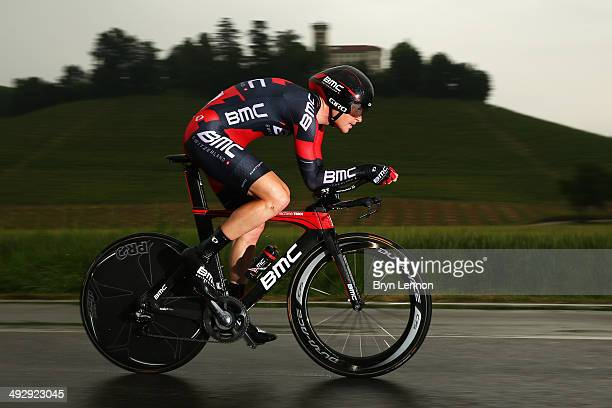 Danilo Wyss of Switzerland and BMC Racing Team in action during the twelfth stage of the 2014 Giro d'Italia a 42km Individual Time Trial stage...