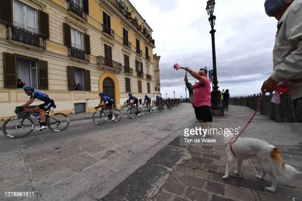 Danilo Wyss of Switzerland and NTT Pro Cycling Team / Domenico Pozzovivo of Italy and NTT Pro Cycling Team / Matteo Sobrero of Italy and NTT Pro...