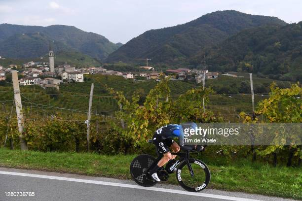 Danilo Wyss of Switzerland and NTT Pro Cycling Team / Santo Stefano Village / Vineyards / Landscape / during the 103rd Giro d'Italia 2020, Stage 14 a...