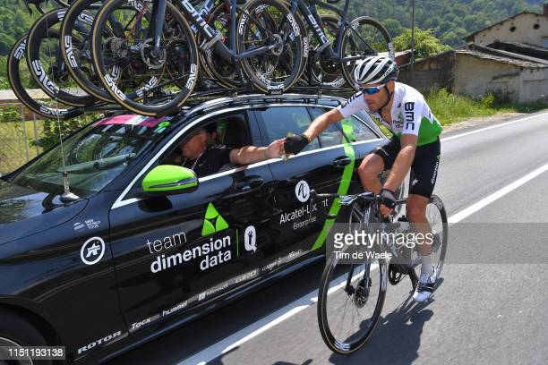 Danilo Wyss of Switzerland and Team Dimension Data / Feed Zone / Car / during the 102nd Giro d'Italia 2019, Stage 12 a 158km stage from Cuneo to...