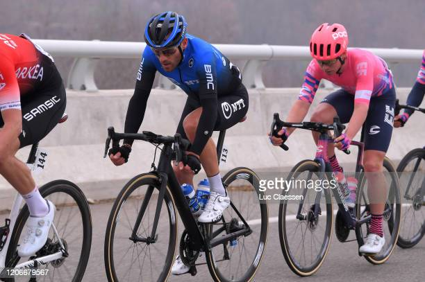 Danilo Wyss of Switzerland and Team NTT Pro Cycling / Luis Villalobos of Mexico and Team EF Pro Cycling / during the 5th Tour de La Provence 2020,...