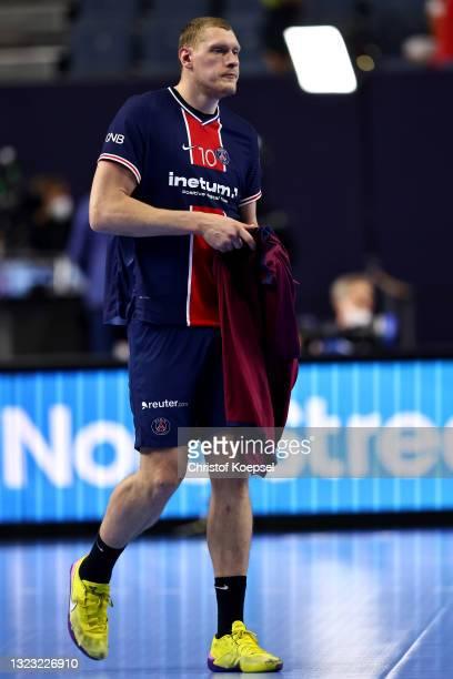 Daninis Kristopans of Paris Saint-Germain looks dejected during the VELUX EHF Champions League FINAL4 semi-final between Aalborg Handbold v Paris...