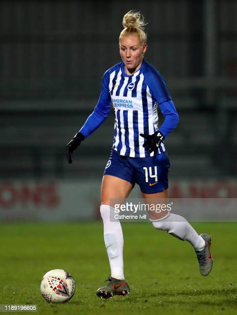 Danique Kerkdijk of Brighton & Hove Albion during the FA Women's Continental League Cup game between The London Bees and Brighton and Hove Albion...