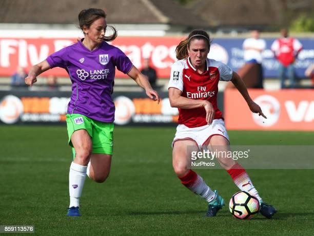 Danique Kerkdijk of Bristol City Women during Women's Super League 1match between Arsenal against Bristol City Women at Meadow Park Borehamwood FC on...