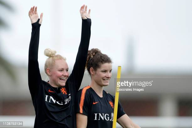 Danique Kerkdijk of Holland Women, Dominique Bloodworth of Holland Women during the Training Holland Women at the Cascade Resort on March 5, 2019 in...