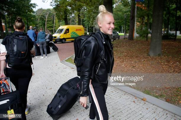 Danique Kerkdijk of Holland Women during the Arrival Holland Women at the KNVB Campus at the KNVB Campus on October 1, 2018 in Zeist Netherlands
