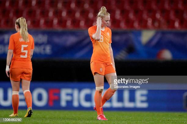 Danique Kerkdijk of Holland Women during the International Friendly Women match between France v Holland at the Stade du Hainaut on March 10, 2020 in...