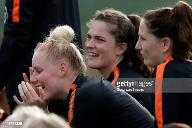 Danique Kerkdijk of Holland Women during the Training Holland Women at the Cascade Resort on March 5, 2019 in Lagos Portugal