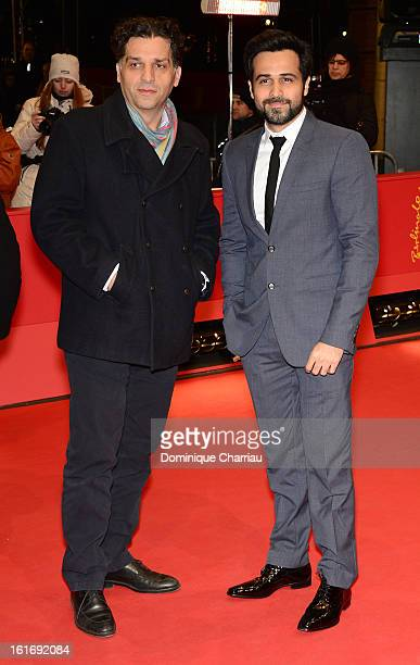 Danis Tanovic and Emraan Hashmi attend the 'Dark Blood' Premiere during the 63rd Berlinale International Film Festival at Berlinale Palast on...