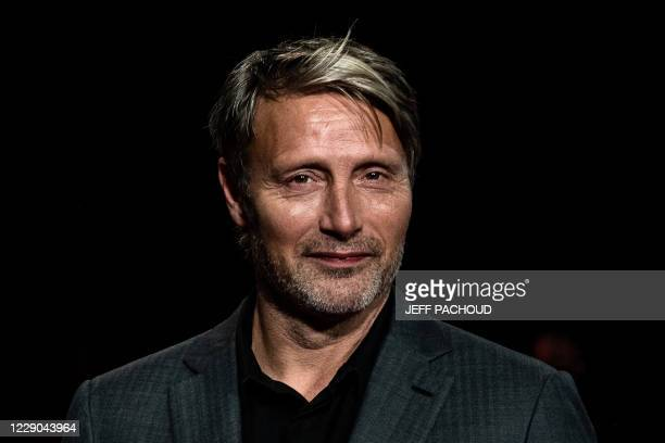 Danish actor Mads Mikkelsen arrives for the opening ceremony of the 12th edition of the Lumiere Film Festival in Lyon, central eastern France, on...