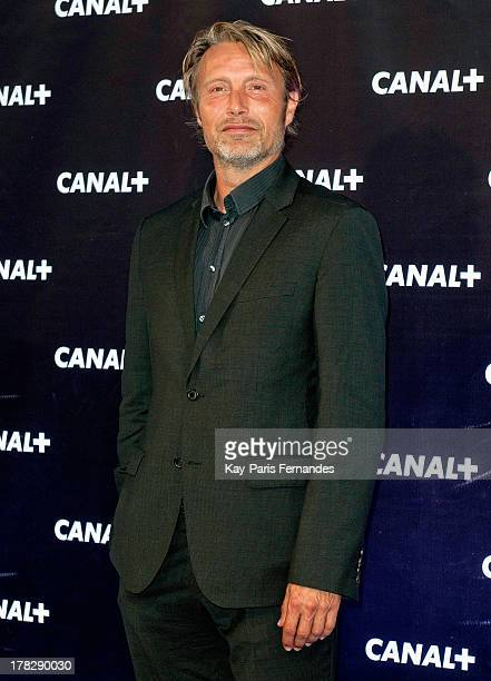 Danish Actor Mads Mikkelsen at the 'Rentree De Canal ' photocall at Porte De Versailles on August 28 2013 in Paris France