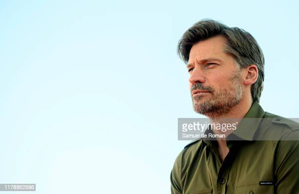 Danish actor Nikolaj Coster-Waldau attends during Suicide tourist film photocall on October 04, 2019 in Sitges, Spain.
