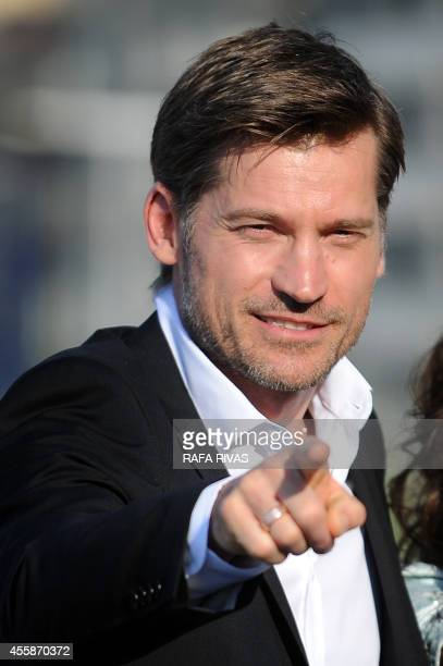 Danish actor Nikolaj CosterWaldau who plays the character of Jaime Lannister in Game of Thrones poses after the screening of his film 'En Chance til'...