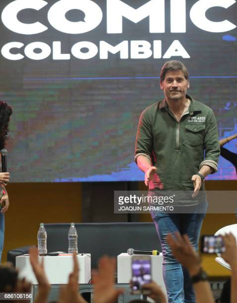 Danish actor Nikolaj CosterWaldau who plays the character of Jaime Lannister in Game of Thrones attends the Comic Con Colombia 2017 in Medellin on...