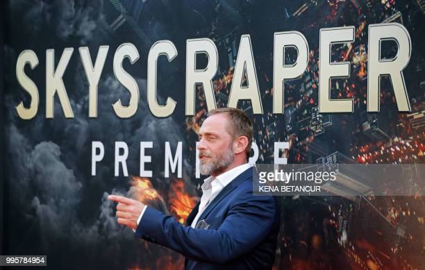 Danish actor Roland Moller attends the premiere of 'Skyscraper' on July 10 2018 in New York City