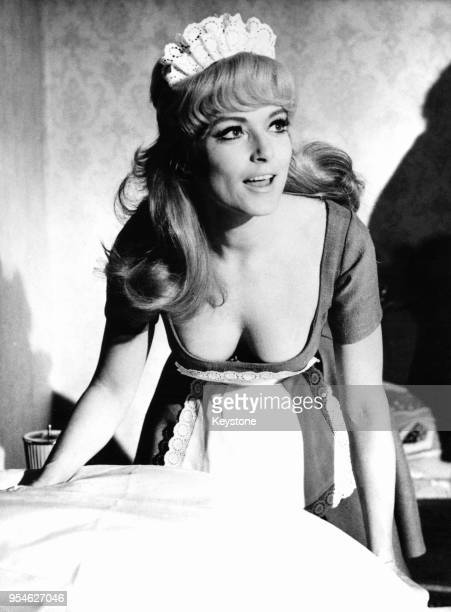 Danish actress Ann Smyrner plays flirty chambermaid Wilma in the film 'Das GoGo Girl vom Blow Up' Germany 12th December 1968