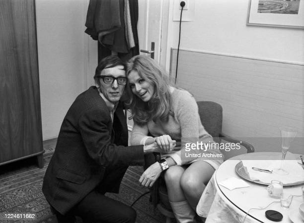Danish actress Ann Smyrner with Heinz Browers, Germany, 1960s.