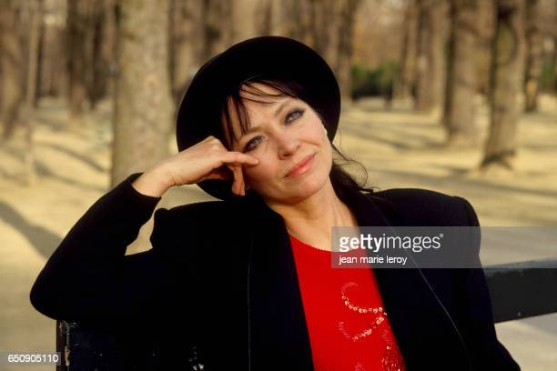 Danish actress Anna Karina in the Luxembourg Gardens