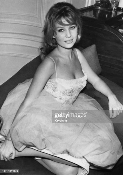 Danish actress Annette Stroyberg at her hotel in London 15th December 1958 The wife of director Roger Vadim she is in London for a screen test for...