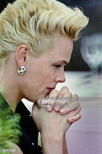 Danish actress Brigitte Nielsen in Cannes France circa 1993