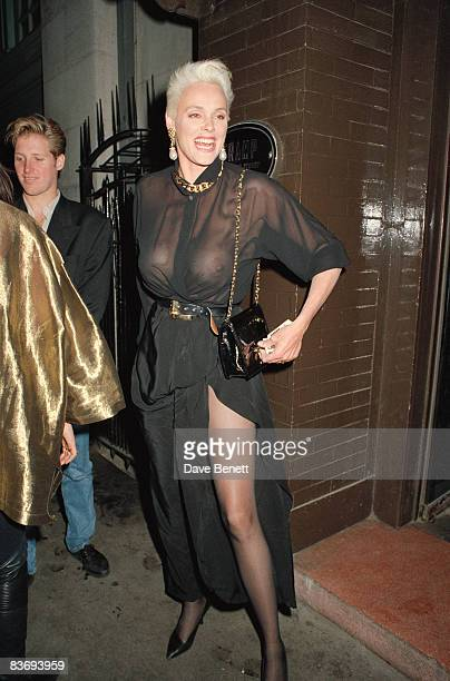 Danish actress Brigitte Nielsen outside the Tramp nightclub on London's Jermyn Street 5th June 1991