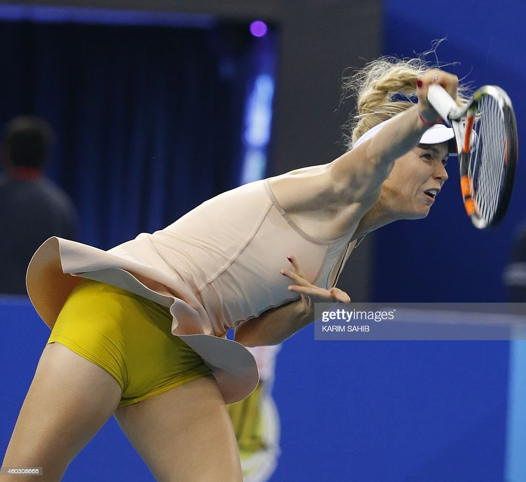 Tennis Magazine Subscription Discount 62: Danish Caroline Wozniacki Of UAE Royals Serves To Kirsten