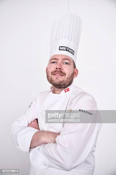 Danish chef Kenneth ToftHansen poses during a photo session as part of the Bocuse d'Or Europe 2018 International culinary competition on June 12 2018...