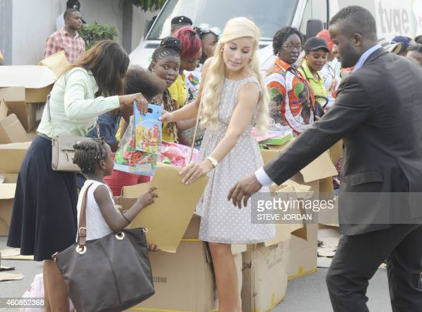 Danish Christina D. Mikkelsen , former Miss Denmark and Miss Bride Of The World 2012, girlfriend of Teodorin Obiang Nguema , the son of Equatorial...