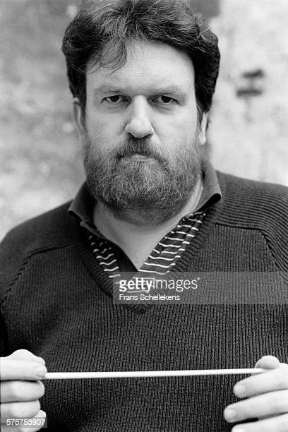 Danish classical conductor Oliver Knussen poses on January 28th 1993 in Amsterdam, Netherlands.