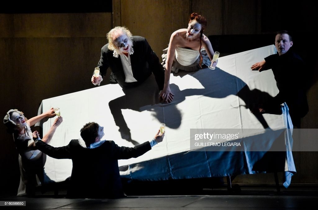 Danish company Theatre Republique and British band The Tiger Lillies present 'The Tiger Lillies performs Hamlet' at the XV Ibero-American Theater Festival in Bogota on March 16, 2016. The biennial festival's first edition took place in 1988 and it is considered the largest theatre festival in the world.