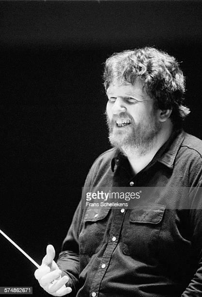 Danish conductor Oliver Knussen on MARCH 25th 1994 at the A. Philipszaal in the Hague, the Netherlands.