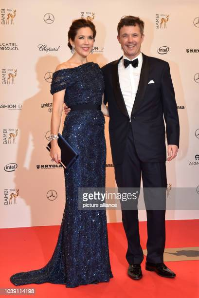 Danish Crown Princess Mary and Crown Prince Frederik arrive on the red carpet area at the Stage Theater before the Bambi Awards at Potsdamer Platz...