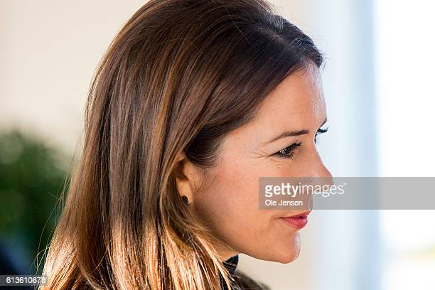 Danish Crown Princess Mary during her attendance at the Government Hospital preopening of the ESMO cancer congress where she meets high level ESMO...