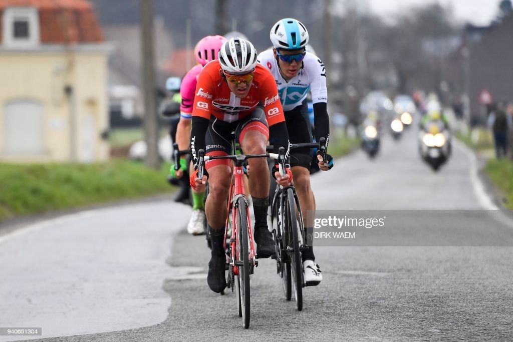 Danish cyclist Mads Pedersen of team Trek-Segafredo, Dutch ...